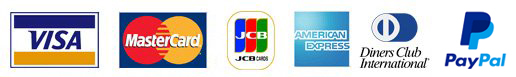 VISA・MasterCard・JCB・AMERICAN EXPRESS・Diners Club International